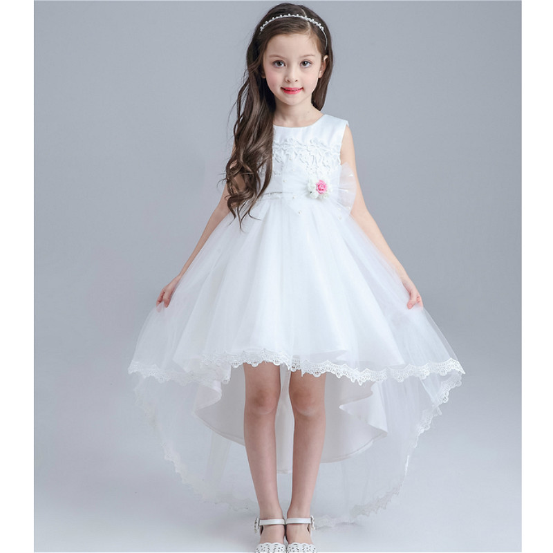 e8f97c49458 Free shipping Flower girl dresses for weddings Elegant trailing gown Fast  shipping Girls princess dress-in Flower Girl Dresses from Weddings   Events  on ...