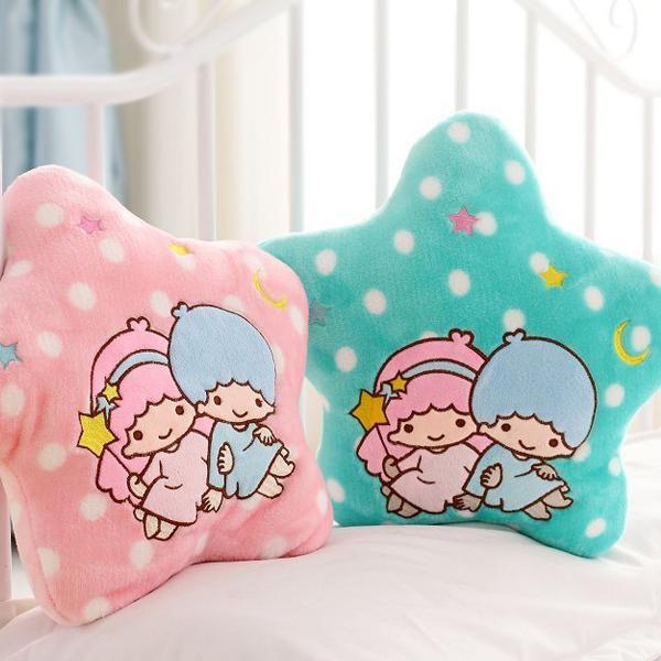 Candice guo! más nueva llegada súper ventas pequeñas estrellas gemelas spots juguete relleno felpa siesta almohada cojín de san valentín regalo de cumpleaños 1 unid