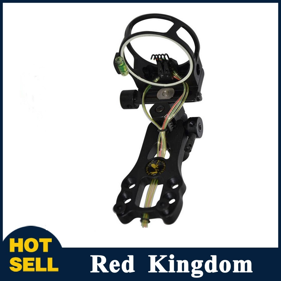 1pcs/lot High Quality Archery Hunting Compound Bow Sight 5 Pin Bow Sight 0.019