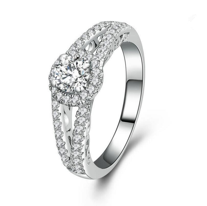 0.5 Carat 925 Sterling Silver Diamond Engagement Wedding customized diamond ring (XJ)