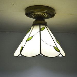 Image 3 - Tiffany Ceiling Light Stained Glass Lampshade Fresh Country Style Bedroom Lighting E27 110 240V