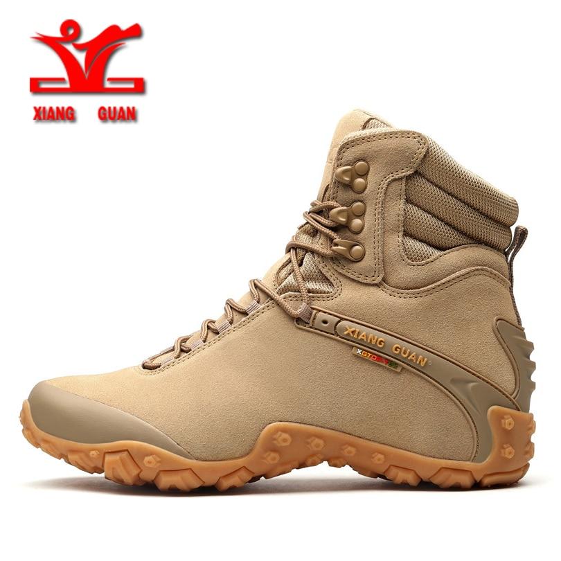 XiangGuan new winter Wear-Resistant Camping women Boots Tactical Sneakers Climbing Waterproof Boots for men Women Hiking shoes