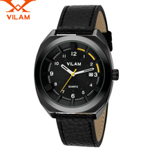 VILAM mens watches top brand luxury military army Leather Band Watches Reloj Masculino quartz-watch designer Men's Wristwatches