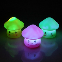 ITimo LED Rabbit Night Light Color Changing Bedroom Decoration Atmosphere Lamp Cute Mushroom For Kid Baby Bedside Children Gift