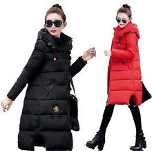 2016 Latest Fashion Women Winter Big yards Hooded Down jacket Coat Elegant Leisure Thicken Keep warm Medium long Coat G1354