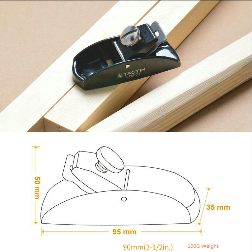 HQ Tiny Mini Small 90MM Woodworking Steel Plane Carpenter Plane With 25MM Adjustable Edged Blade For Small Pieces Wood