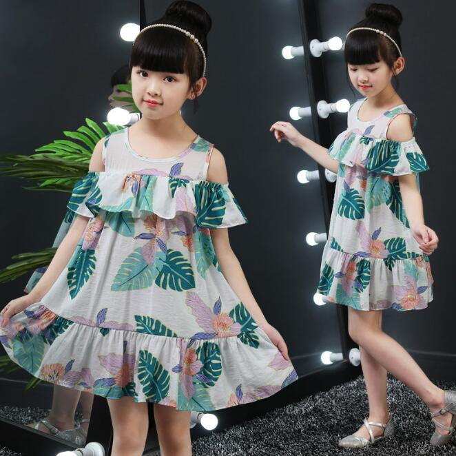 Baby Girls Floral Dress Brand Summer Beach Party Cotton Lace Beach dresses Toddler Girl Clothing Kids For 6 8 10 12 14 Years girl
