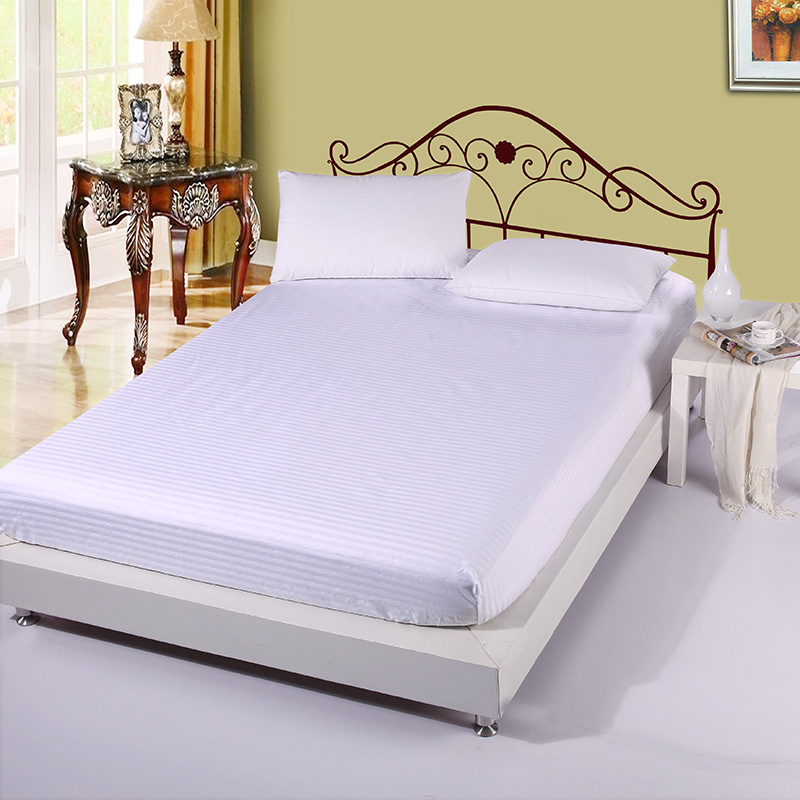Home Textile 100 Cotton Solid White Ed Sheet Bed Sheets Hotel Covers Mattress Cover Protector King Queen Full Twin Size