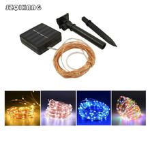Solar LED Lawn Lamp Outdoor Waterproof 12m 22m Copper Wire Fairy String Lamp for Garden Xmas Tree Decor Auto OFF/ON 2m 20 led solar solar led string light mason jar lid lamp xmas outdoor garden decor christmas holiday decoration lamp 1567