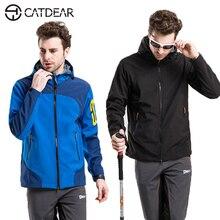 2017 High quality Outdoor sports Hiking Jacket Men Windstopper Softshell fleece Jacket Men Waterproof Windproof Outdoor Jacket