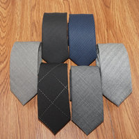 New Fashion 100% Wool Ties for Men High Quality Brand Narrow Slim Tie Plaid 6cm Mens Necktie for Wedding Cravats with Gift Box