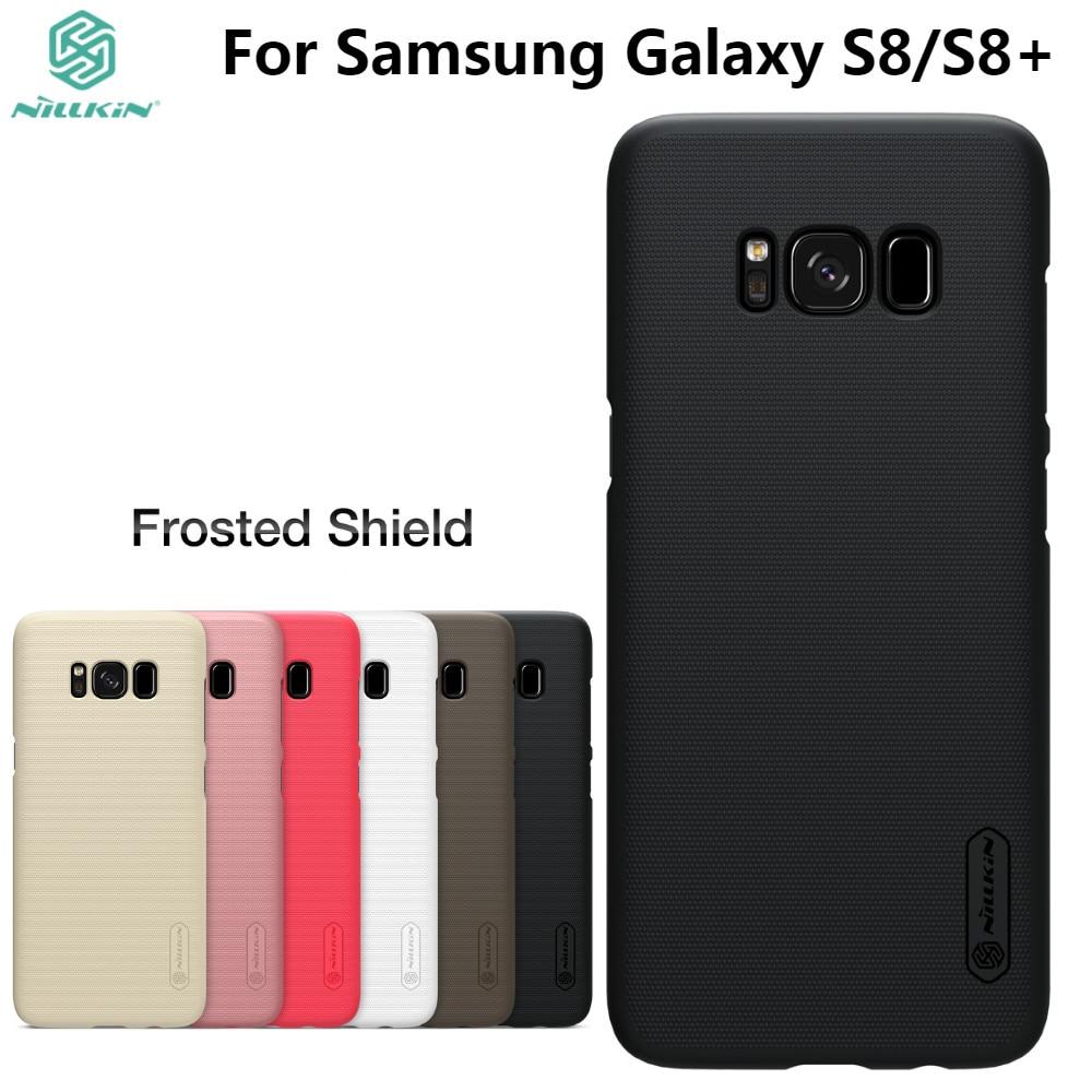 För Samsung Galaxy S8 / S8 Plus Fodral NILLKIN Frostad PC Plastbaksida med presenttelefonhållare för Galaxy S8 S8 Plus
