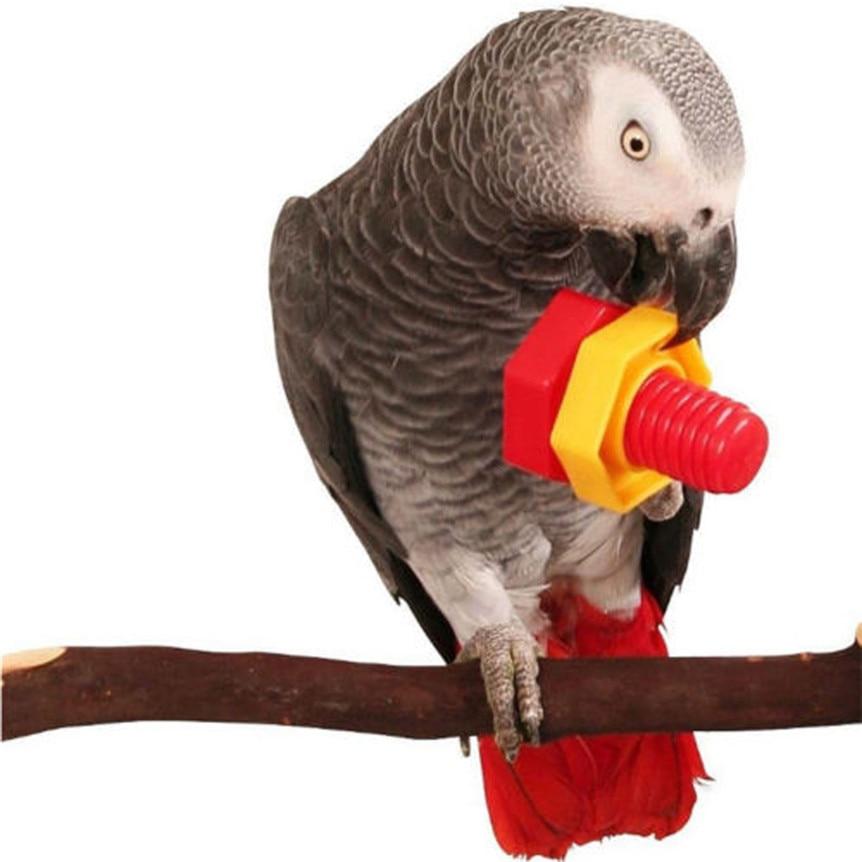 4 Stks Parrot Chew Speelgoed Plastic Vogel Papegaai Moeren Bouten Schroef Chew Bite Grote Plastic Vogel Speelgoed Drop Verzending 8a10
