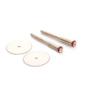 Image 2 - Disco de corte de aço inoxidável, ferramenta abrasiva com 2 mandril, mini broca rotativa com 10 peças e 22mm acessórios de ferramentas