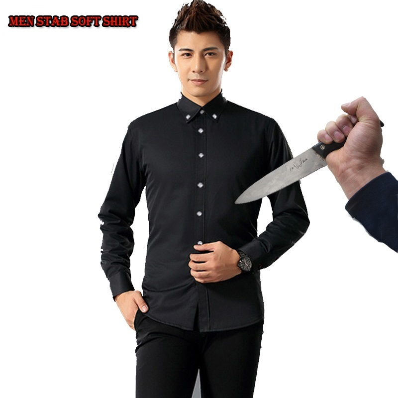 Self Defense Stealth Shirts Tactical SWAT Anti Cut Knife Cut Resistant Fleece Shirt Anti Stab Proof Men Shirt Security Clothes
