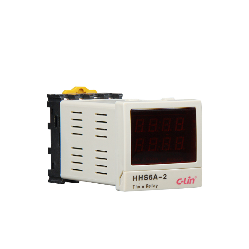 HHS6A-2 Intelligent Time Relay Number Show Correct / Countdown Bring Power Failure Memory AC220V genuine taiwan research anv time relay ah2 yb ac220v