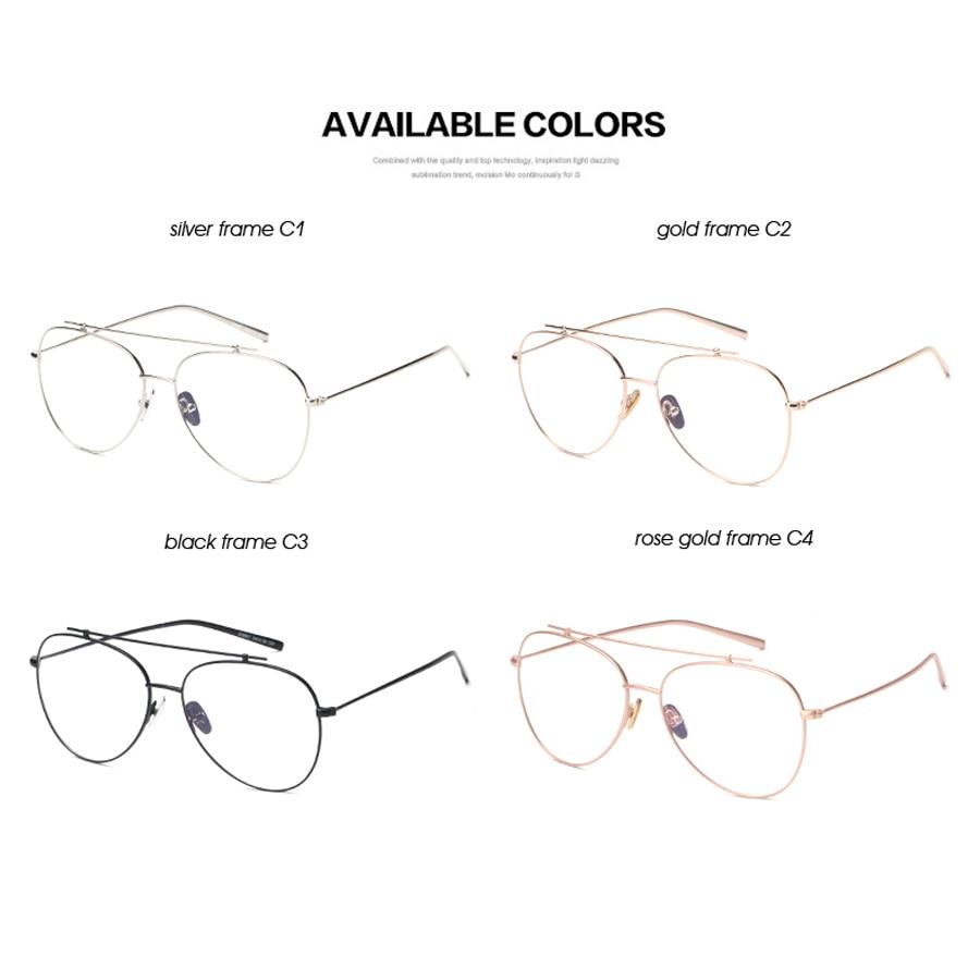 BANSTONE Marke Designer Klare Gläser Frauen Rose Gold Brillengestell ...