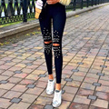Mulheres Moda Meninas Encantadoras Sheathy Calças Slim de Cintura Alta Palazzo Elástica Orvalho Joelho Longo Calça Casual Leggings