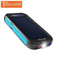 Tollcuudda 12000mah Waterproof Solar Power Bank 2 USB Portable Mi Phone Poverbank Bateria External Pack With