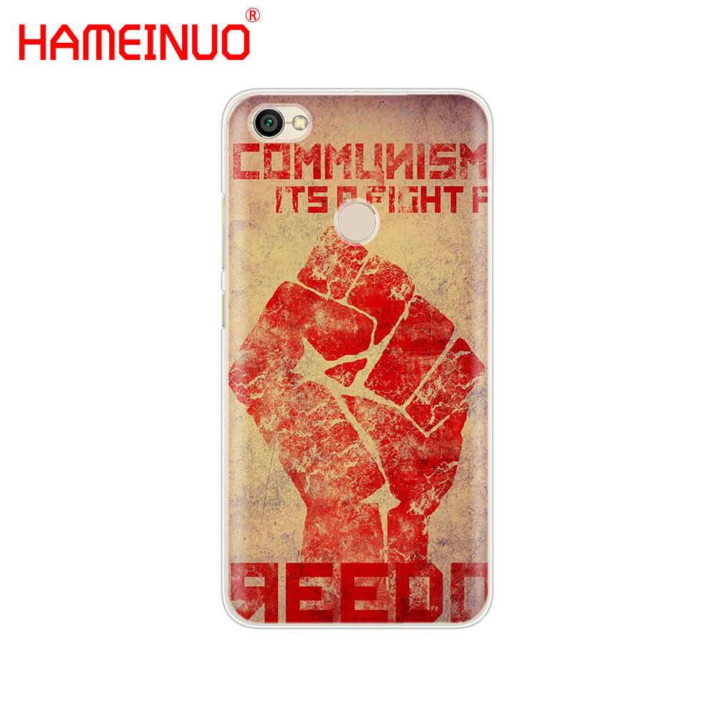 Hameinuo الاتحاد السوفياتي السوفياتي الجرونج العلم غطاء حالة الهاتف ل xiaomi redmi 5 4 1 1 2 3 3 ثانية ثانية الموالية زائد redmi ملاحظة 4 4x 4a 5a