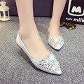 2016 new fashion Rhinestone high heels women pumps,women genuine leather wedge shoes woman single casual shoes