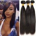 Productos para el cabello Queen armadura brasileña recta del pelo 4 Bundle Jet negro pelo brasileño recto barato paquetes de pelo humano recto