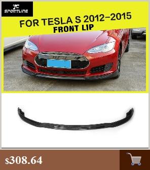 Углеродное волокно передний бампер губы сплиттеры для Tesla модель S Седан 4 двери 2012- бампер Защита
