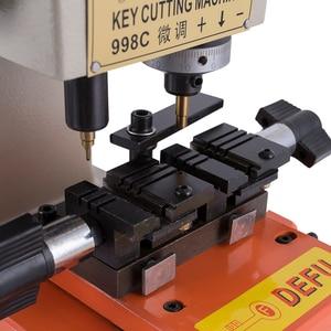 Image 4 - Máquina chave vertical da picareta do fechamento da máquina de corte da chave de defu 998c duplicando a máquina 220 v 110 v para fazer ferramentas do serralheiro das chaves