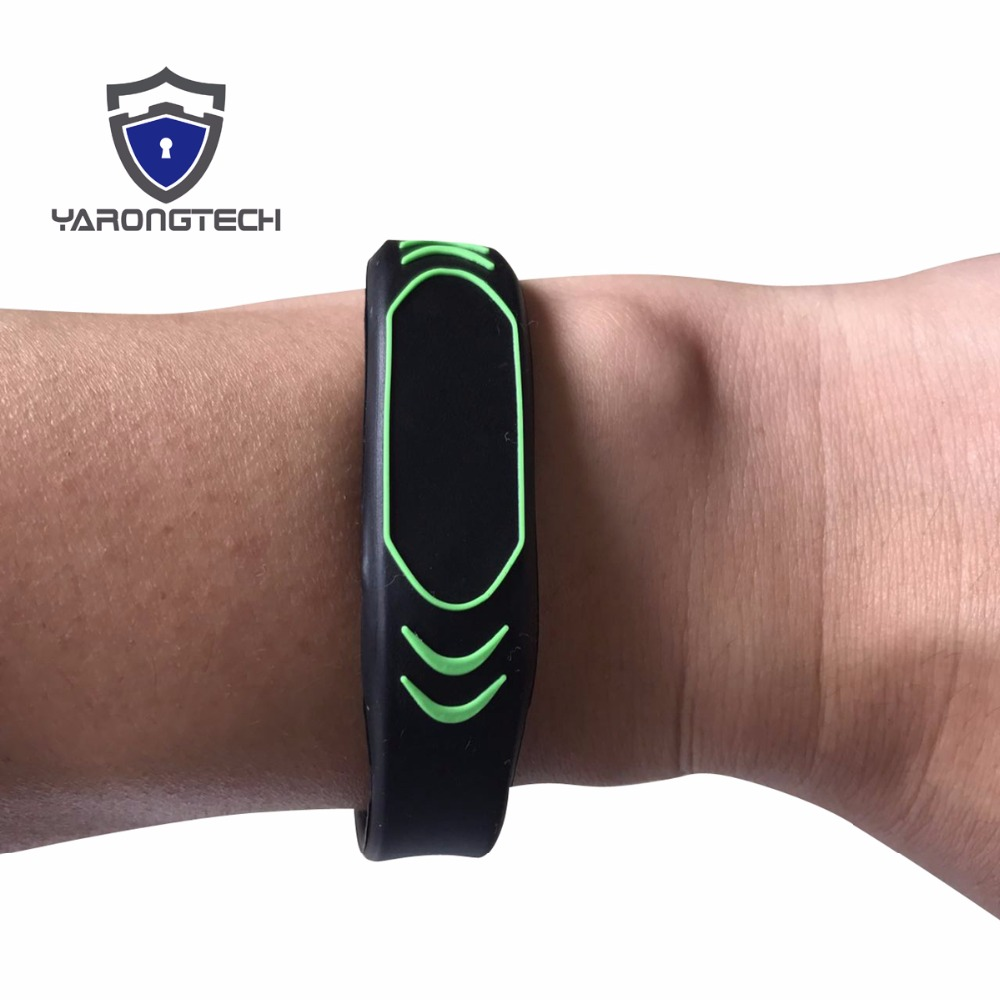 New Design 13.56MHZ ISO14443A MIFARE Classic 1K Adjustable NFC Silicone rfid wristband (pack of 3)