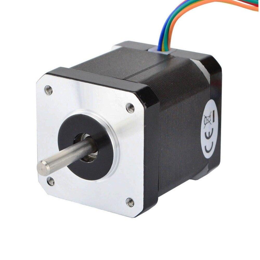 0.9deg 6-lead Nema17 Stepper Motor Unipolar 32Ncm(45.3oz.in) 0.4A 42x42x48mm for DIY 3D Printer Motor/ CNC Robotic0.9deg 6-lead Nema17 Stepper Motor Unipolar 32Ncm(45.3oz.in) 0.4A 42x42x48mm for DIY 3D Printer Motor/ CNC Robotic