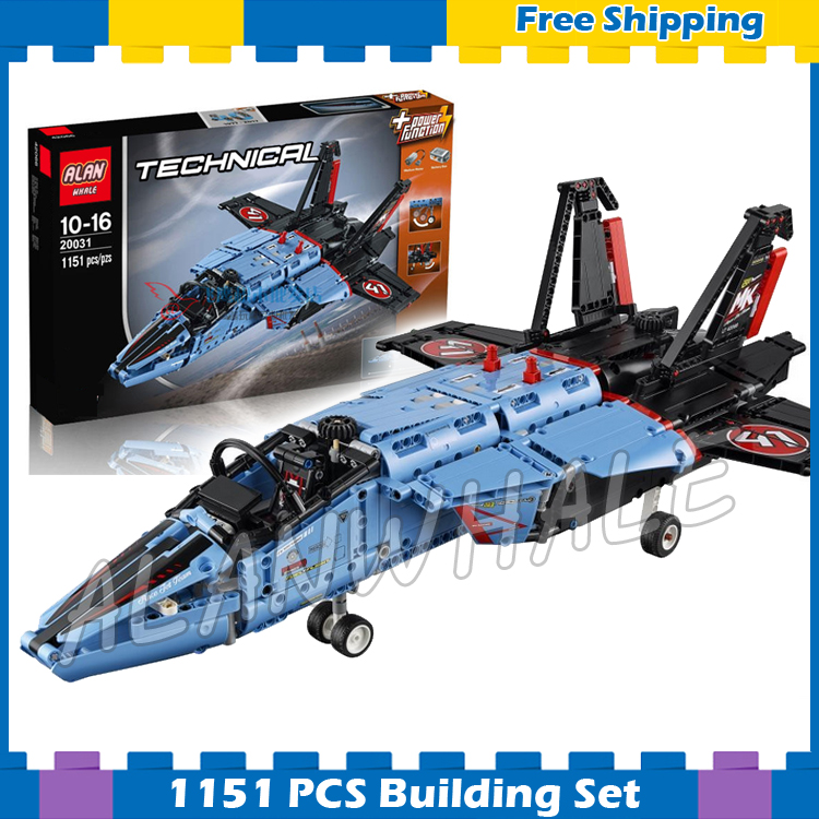 1151pcs New Technic Air Race Jet 20031 DIY 2-in-1 Model Building Kit Blocks Gifts Boys Sets Compatible With lego цена