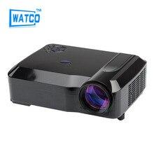 2016 regalo Libre brillo 4200 lúmenes hd blh proyectores soporte USB VGA HDMI TV AV 180 watt LED de la lámpara proyectores de cine en casa