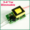Dimmable LED Driver power supply 3w 4w 110V 220V 300MA led transformer dimmer for E27 E14 GU10 LED spotlight bulb lamp