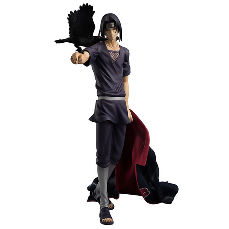 Anime Naruto Figure 27CM Naruto Shippuden Uchiha Itachi PVC Action Figure Brinquedos Collectible Model Toy With Box pu short wallet w colorful printing of naruto shippuden uchiha itachi