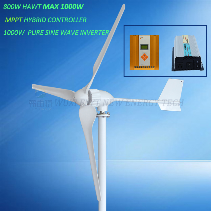 MAX power 1000w rated 800w with MPPT hybrid controller with 1000w pure sine wave inverter
