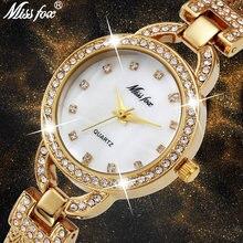 Женские часы missfox милые стальные сетчатые для девочек подростков