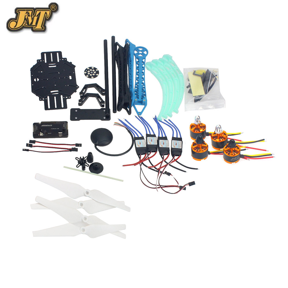 JMT Drone Quadrocopter 4-axis Aircraft Kit 500mm Multi-Rotor Air Frame 6M GPS APM2.8 Flight Control No Transmitter BatteryJMT Drone Quadrocopter 4-axis Aircraft Kit 500mm Multi-Rotor Air Frame 6M GPS APM2.8 Flight Control No Transmitter Battery