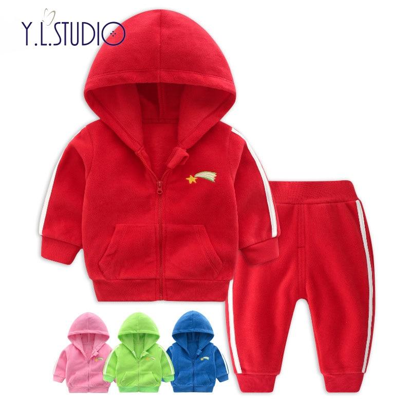 Осенняя одежда для новорожденных девочек из 2 предметов зимний топ с длинными рукавами для мальчиков + штаны, комплект спортивной одежды, но