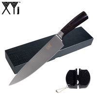 XYj Handmade Cooking Tools Color Wood Handle Stainless Steel Knife 8 Kitchen Knife Hard Paper Gift