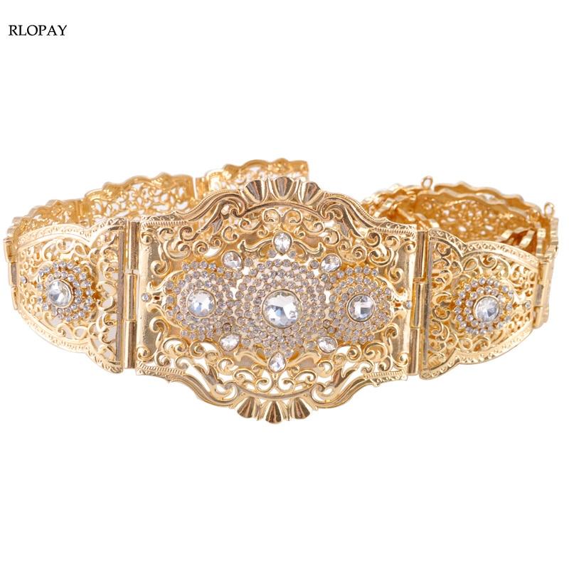 Rhinestone Fancy Belts For Moroccan Kaftan Wedding Dress Abaya Luxury Waist Belt Mulism Costume Jewelry-in Body Jewelry from Jewelry & Accessories    1