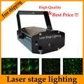 Venta al por menor 150 mW 4in1 Mini Laser iluminación escénica efecto luz del disco de dj del partido proyector laser 110-240 V con Trípode