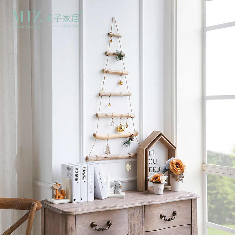 Miz Handmade Craft Wooden Ladder Christmas Hanging