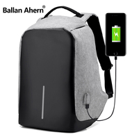 Ballan Ahern Unisex Multifunctional External USB Charging Anti Theft Backpack Mens Oxford 16inch Laptop Bag Male