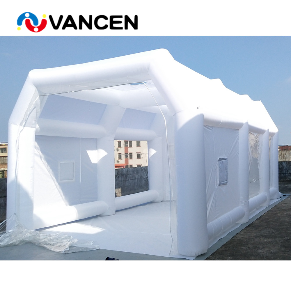 Household cabin booth 6*4*2.5m customized color inflatable spray paint booth waterproof inflatable paint booth tent