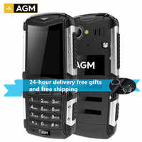 AGM M1 Celular à prova de Tri-2.0 ''128 MB + 64MB 2.0MP 2570mAh IP68 3 Telefone À Prova D' Água G GSM WCMA Russa Telefone Móvel Botão M2