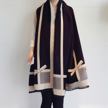 Bufanda de Cachemira de alta calidad para mujer, pañuelo largo con lazo, Pashmina gruesa y cálida, chal de diseñador, chal para mujer