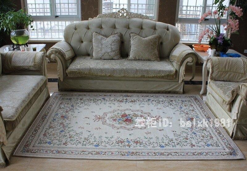 Katoenen tapijt euro landelijke stijl tapijten voor woonkamer en