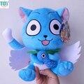 Новый Fairy Tail Счастливые Синий Кот С Рыбой Летать Крылья Мягкий Фаршированные Плюшевые Куклы Мультфильм Аниме Игрушки