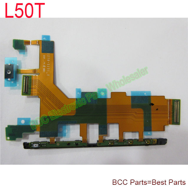 Original For Sony for Xperia Z2 L50T 4G Version Side Button Power on off volume Camera switch keypad Main big Flex Ribbon Cable