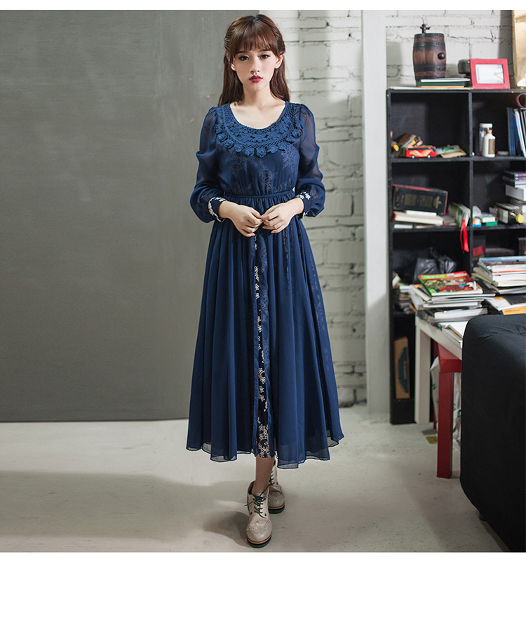 f4bb3d894bc9 DEMON STYLE 2014 Autumn Vintage women s elegant two pieces Swing hem dress  women s dress original design-in Dresses from Women s Clothing on  Aliexpress.com ...